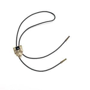 Modern Bolo Tie / Black + Bronze-Toned